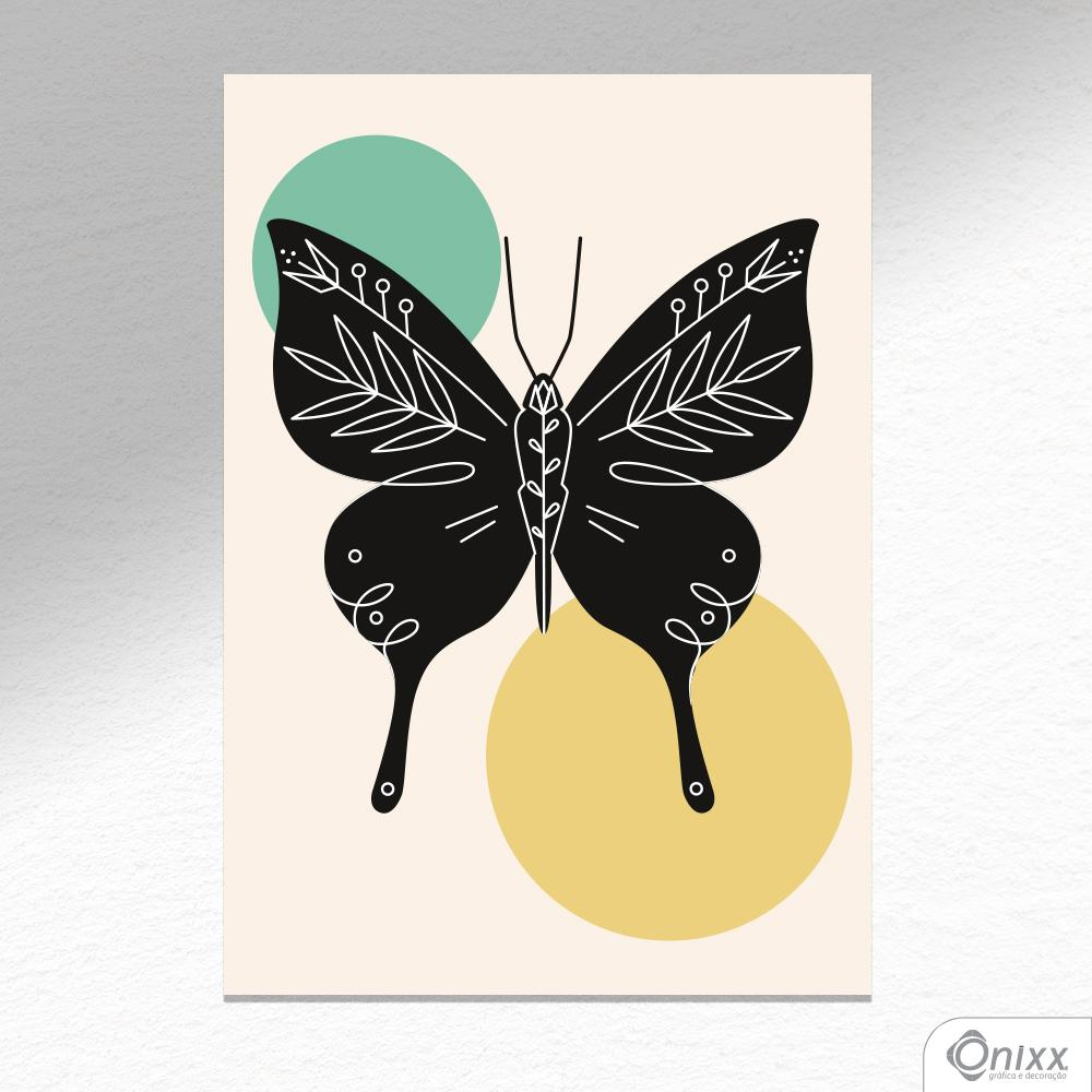 Placa Decorativa Série Natureza Artística ( Butterfly ) A4