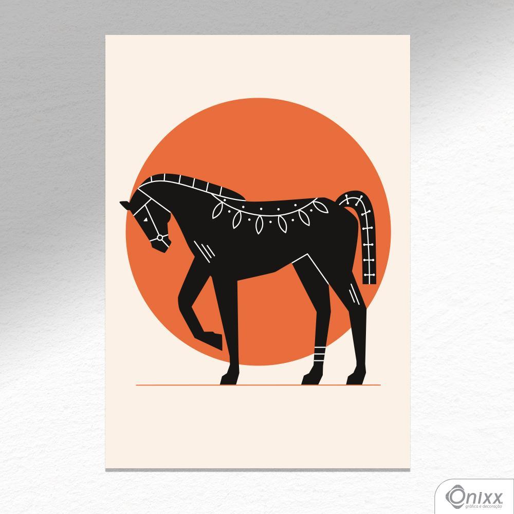 Placa Decorativa Série Natureza Artística ( Horse ) A4