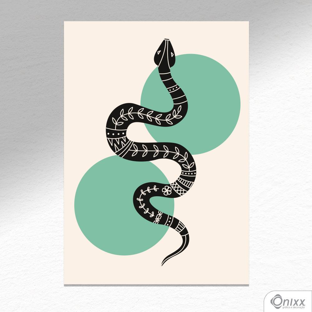 Placa Decorativa Série Natureza Artística ( Snake ) A4