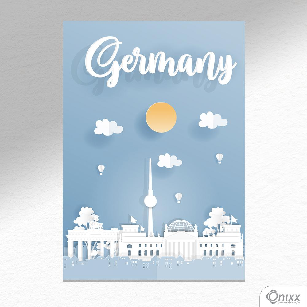 Placa Decorativa Série Papercut Germany A4