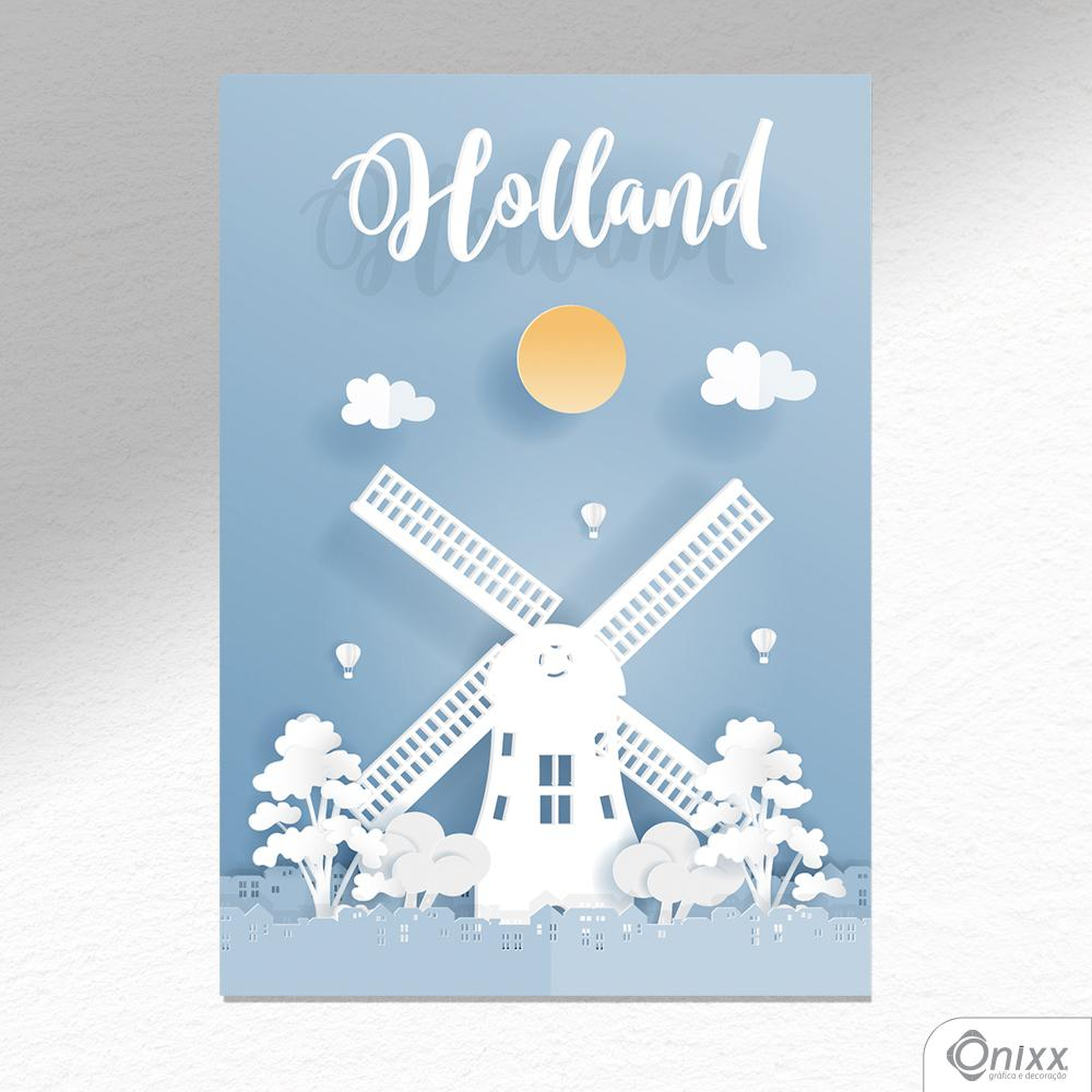 Placa Decorativa Série Papercut Holland A4