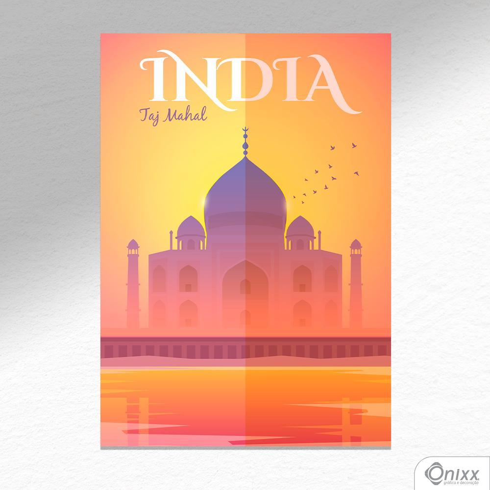 Placa Decorativa Série Pôster India A4