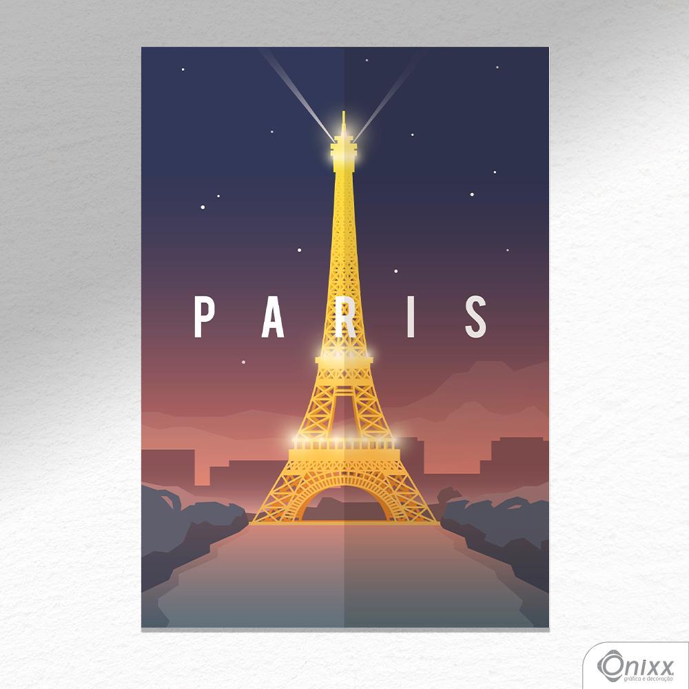 Placa Decorativa Série Pôster Paris A4