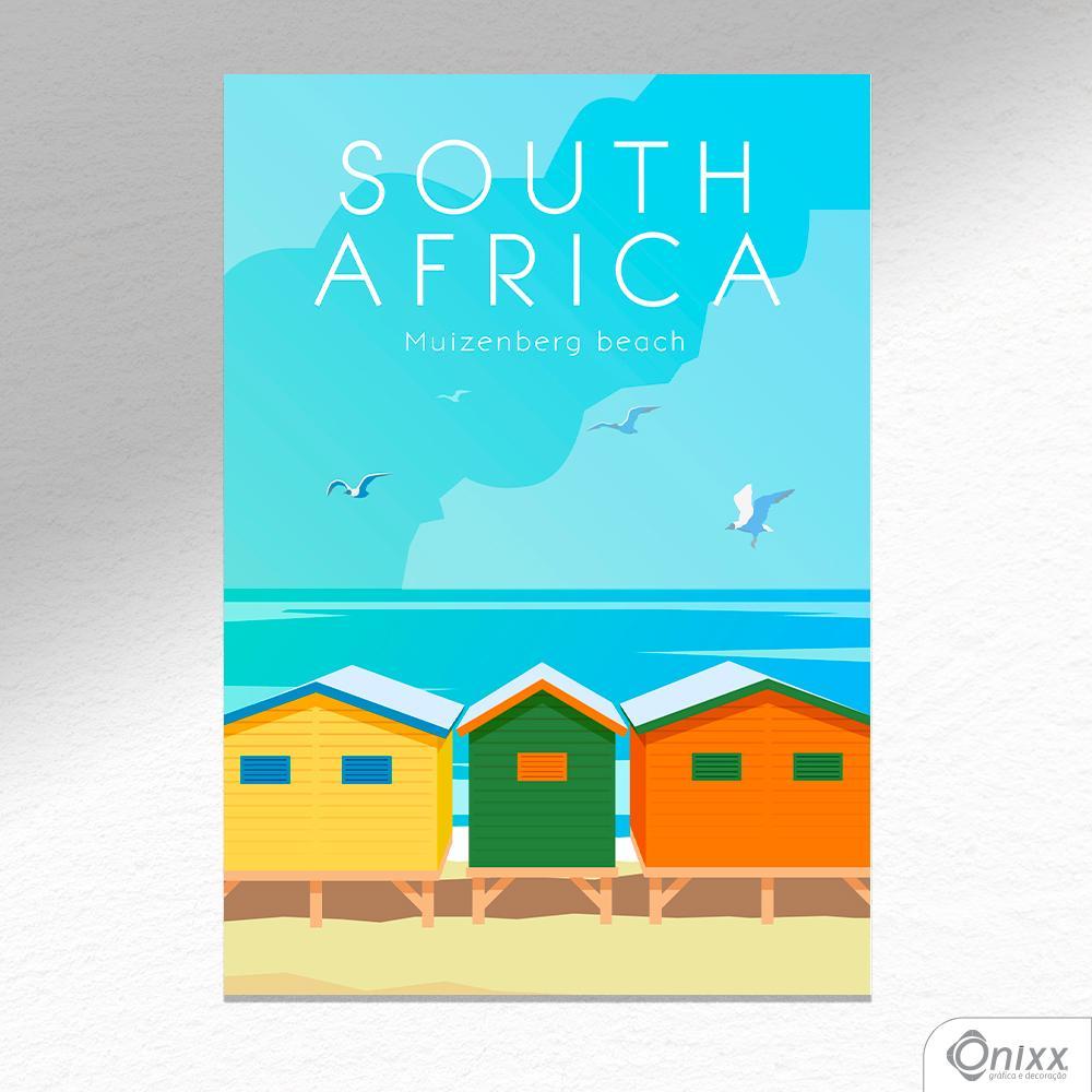 Placa Decorativa Série Pôster South África A4