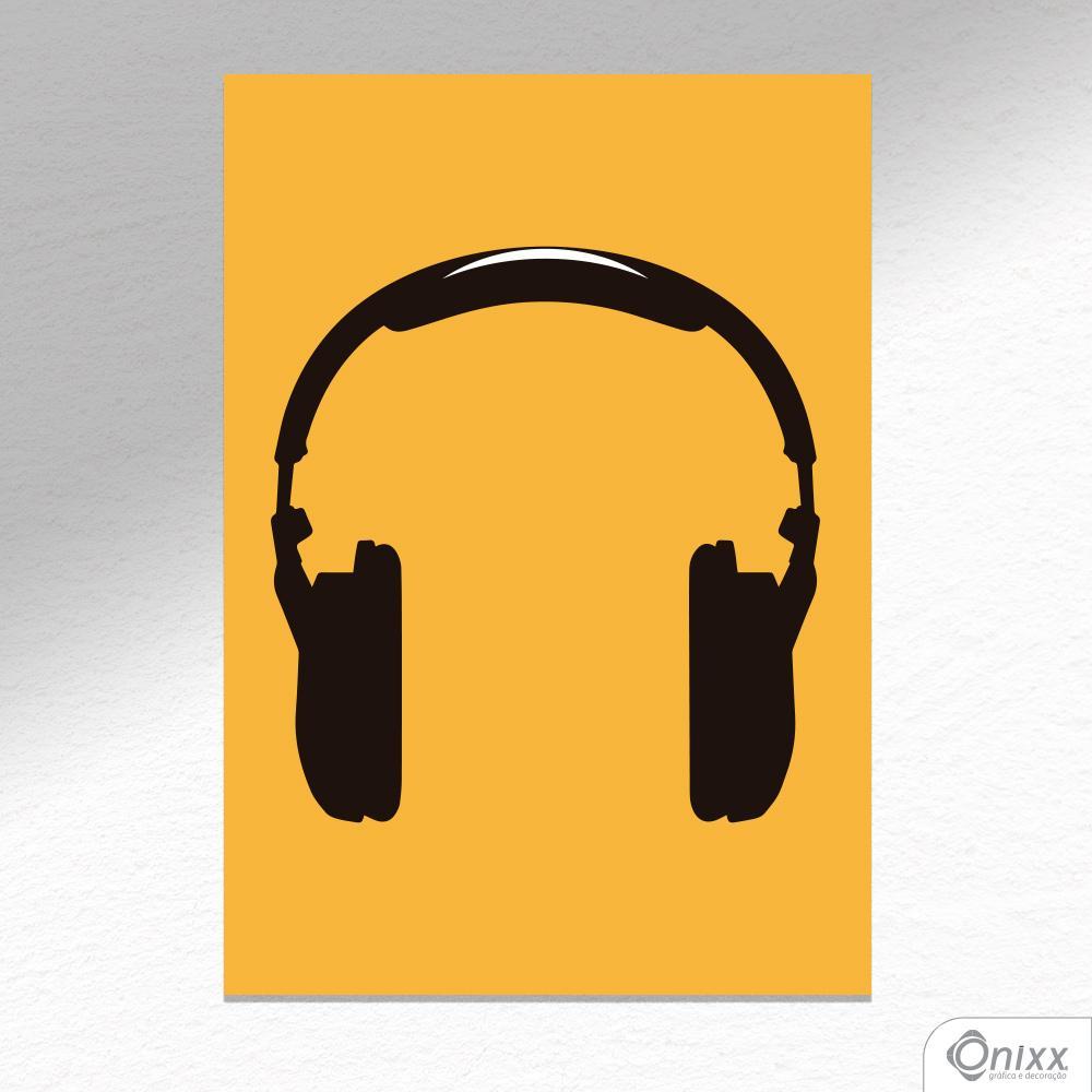 Placa Decorativa Série Sounds ( Fone ) A4