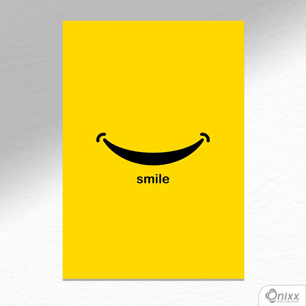 Placa Decorativa Smile A4