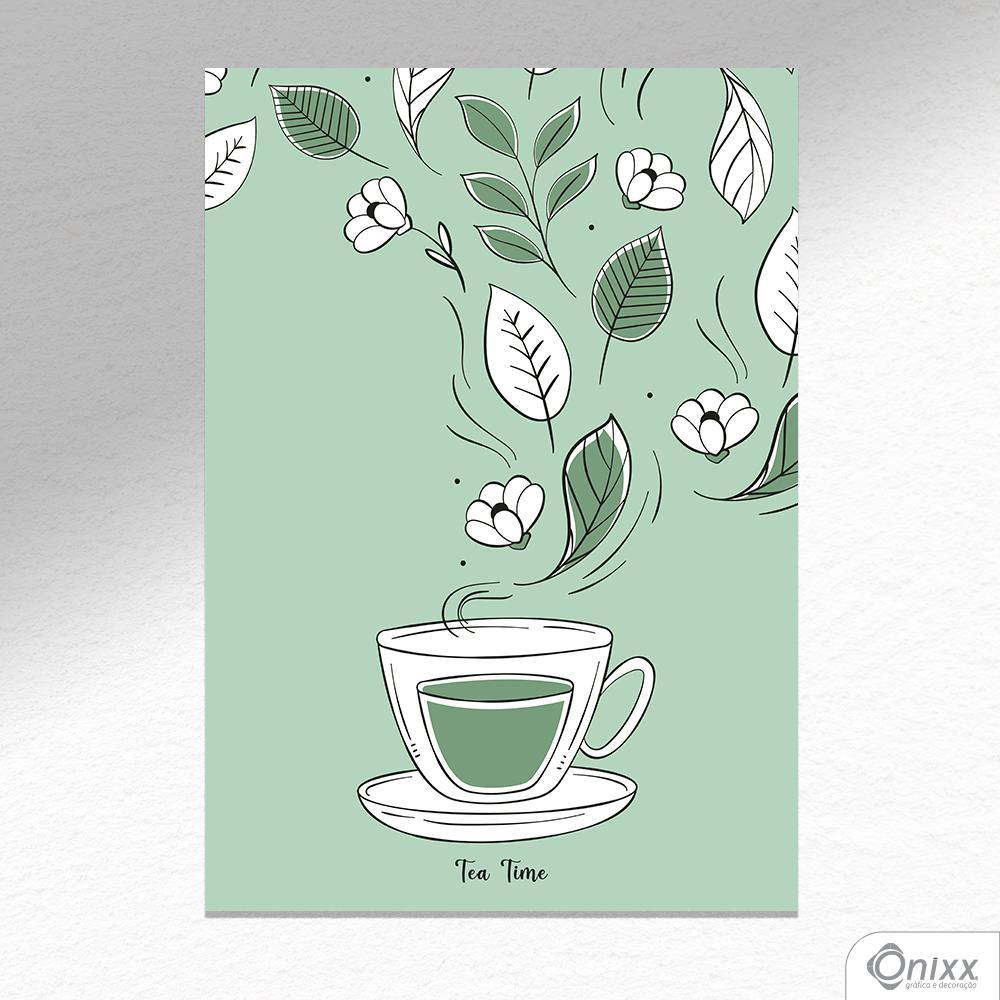 Placa Decorativa Tea Time A4