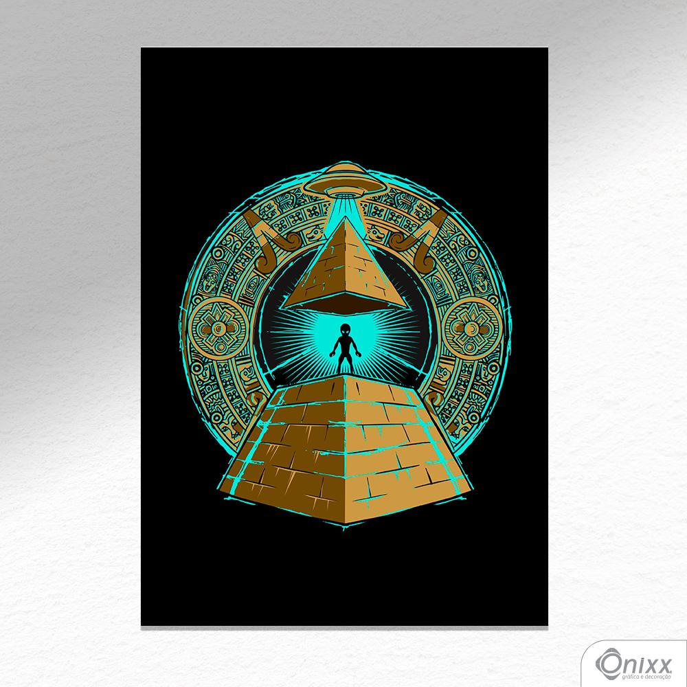 Placa Decorativa UFFO ILUMINATE A4