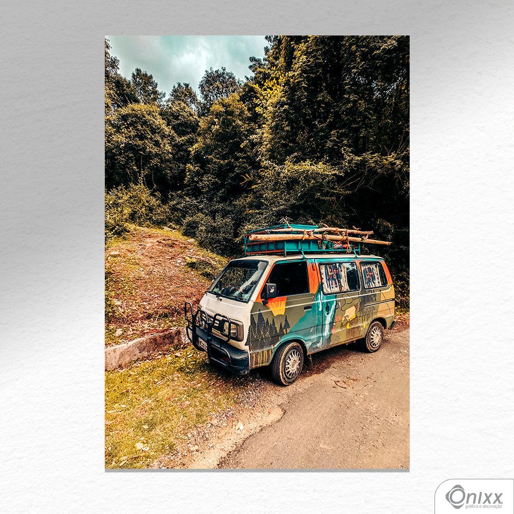 Placa Decorativa Van em Viagem A4