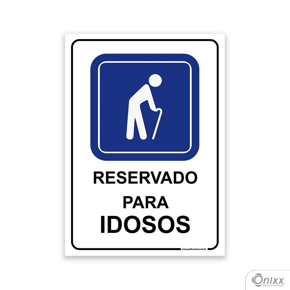 Placa Estacionamento Reservado para Idosos