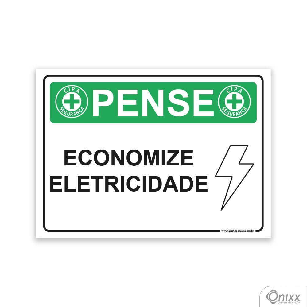 Placa Pense: Economize Eletricidade