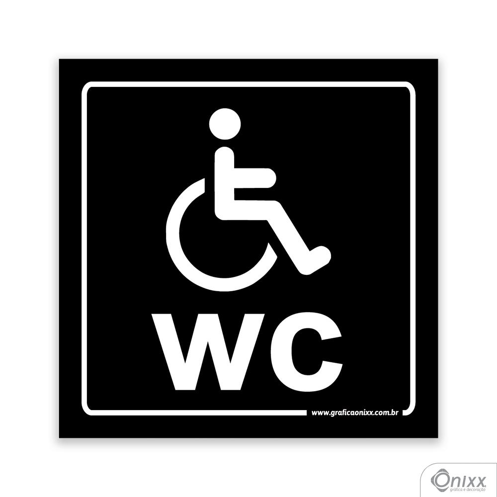 Placa Reservado Para Deficientes ( WC ) PB