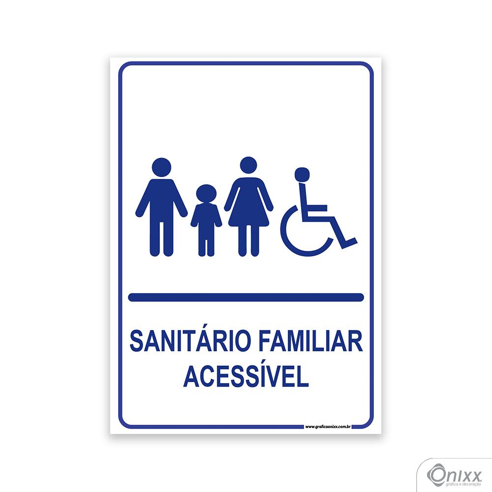 Placa Sanitário Familiar Acessível