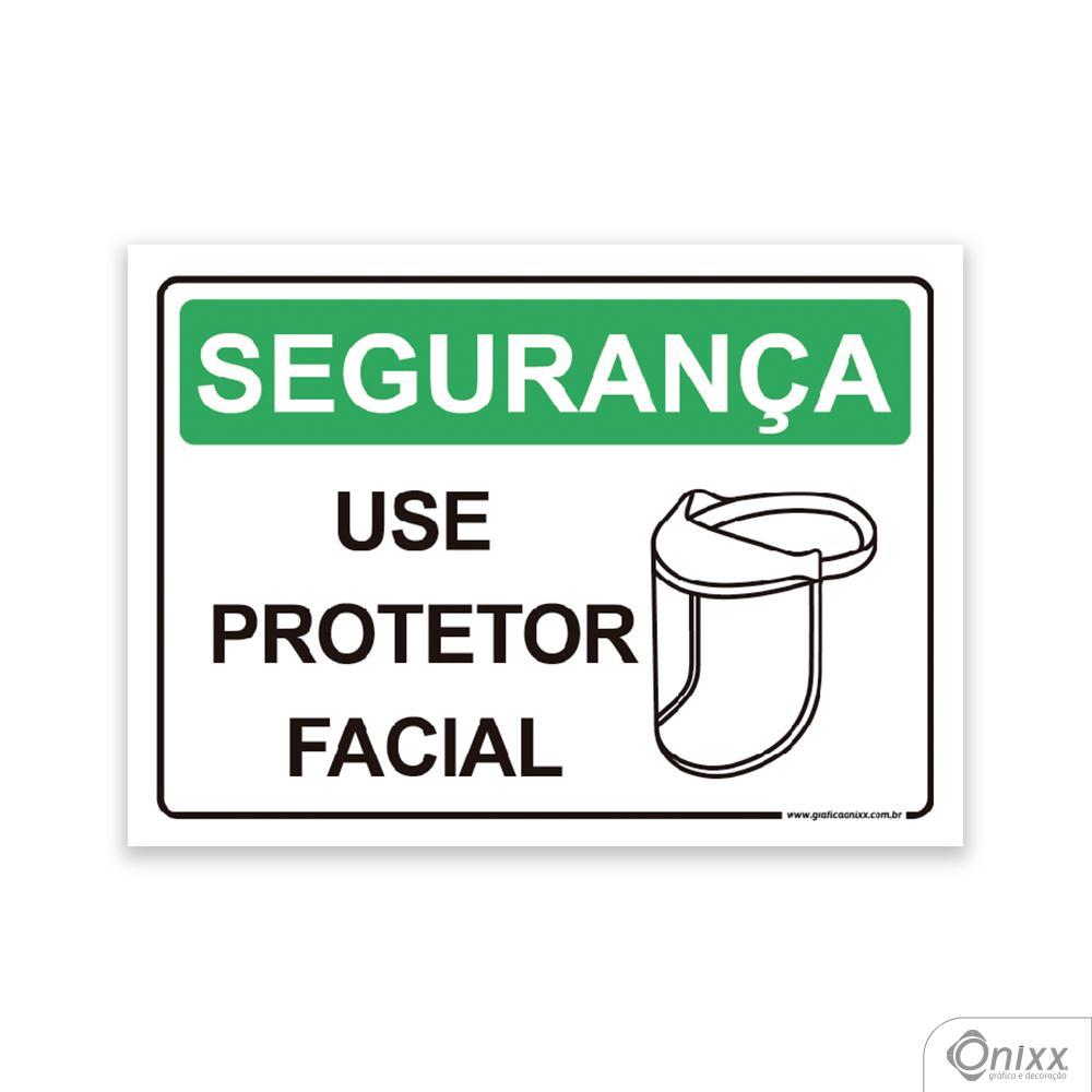 Placa Segurança Use Protetor Facial