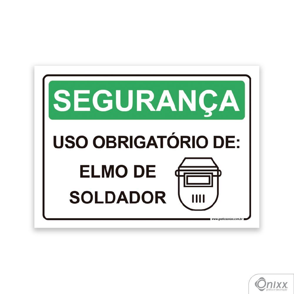 Placa Segurança: Uso Obrigatório De Elmo De Soldador
